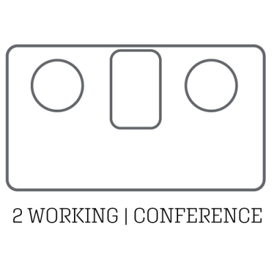 layout acoustic pod 2 working conference