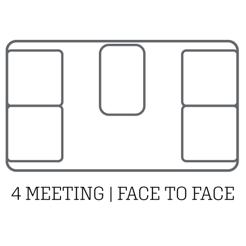 layout acoustic pod 4 meeting face to face
