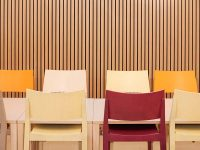 Timber panels for a better acoustics