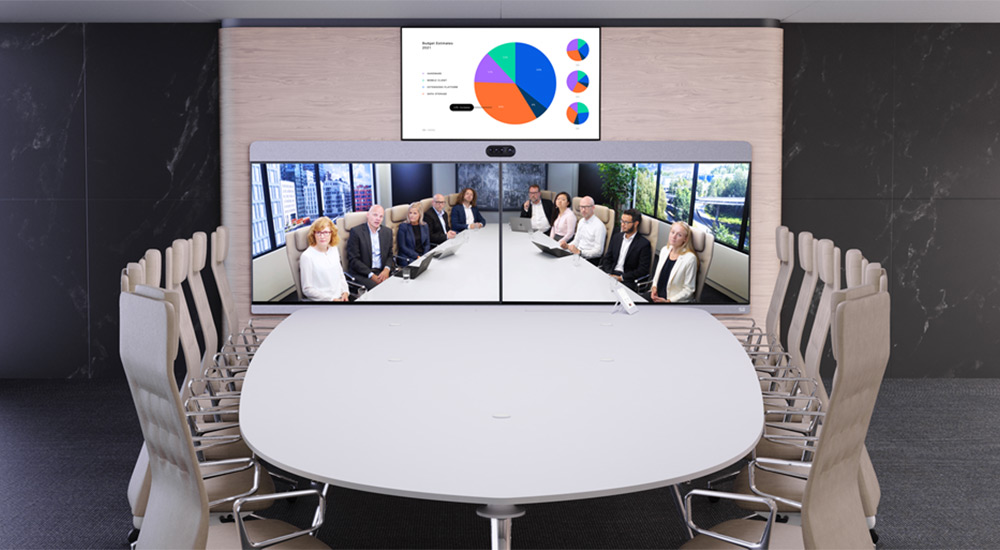 Gustafs panels integrated with Cisco Webex Room Panorama
