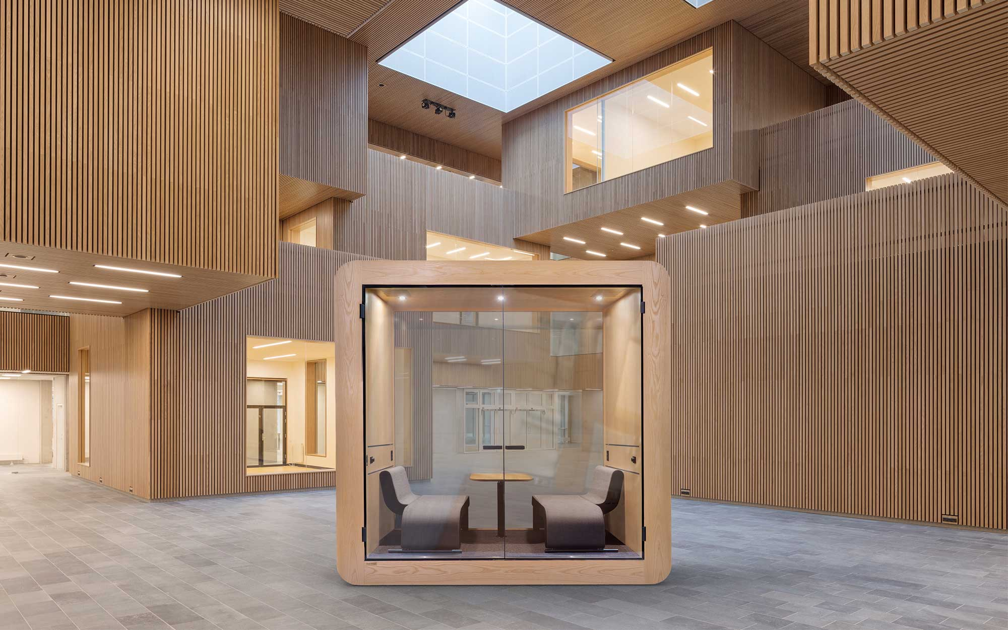 Gustafs Acoustic Meeting Pod for offices and public spaces