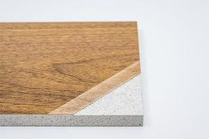 Non-combustible wood panels for interior claddings