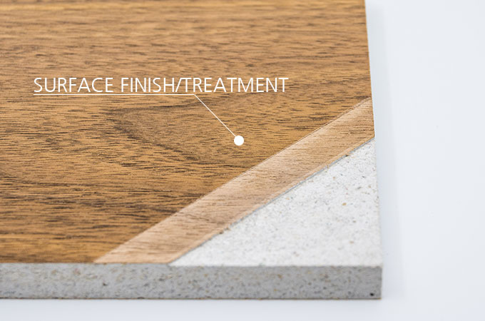 Cladding product in wood with fire resistant veneer