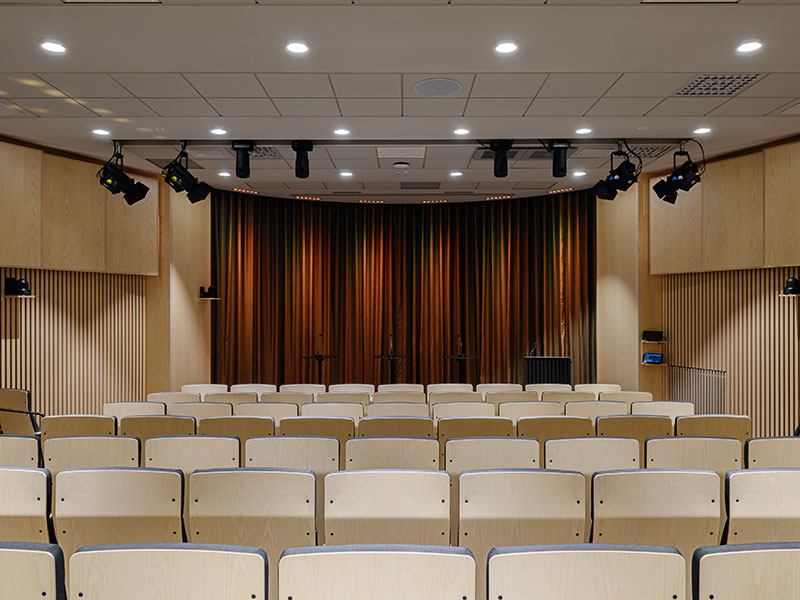 View from the back in refurbished auditorium