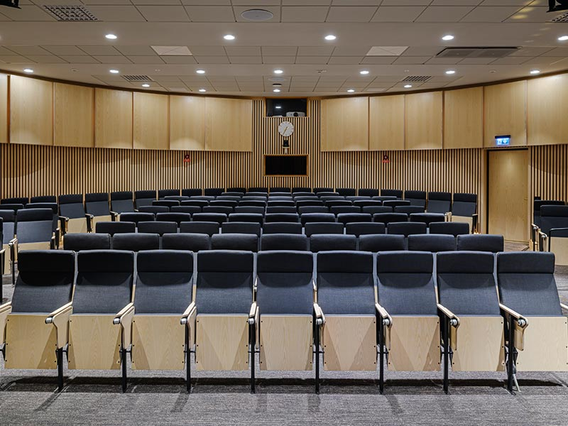 Refurbished auditorium at the Swedish Trade Union Confederation