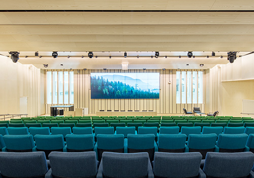 Auditorium at SEB bank in Stockholm