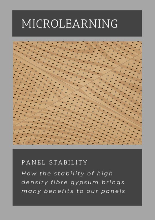 Gustafs microlearning explores the benefits of our fiber gypsum based panels