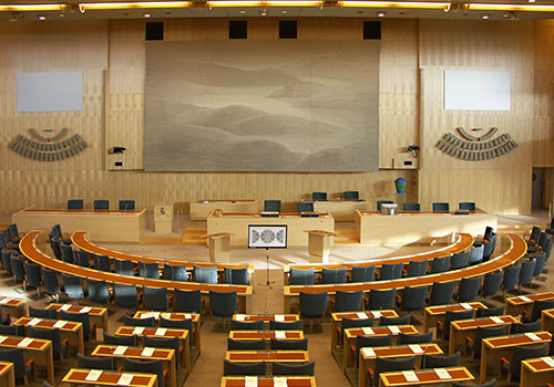 A view of the Swedish parliament