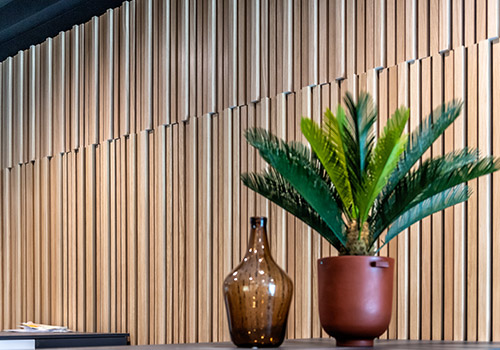 The three dimensional nature of the vertical wall panelling can provide good sound absorption too, particularly in large, open areas.