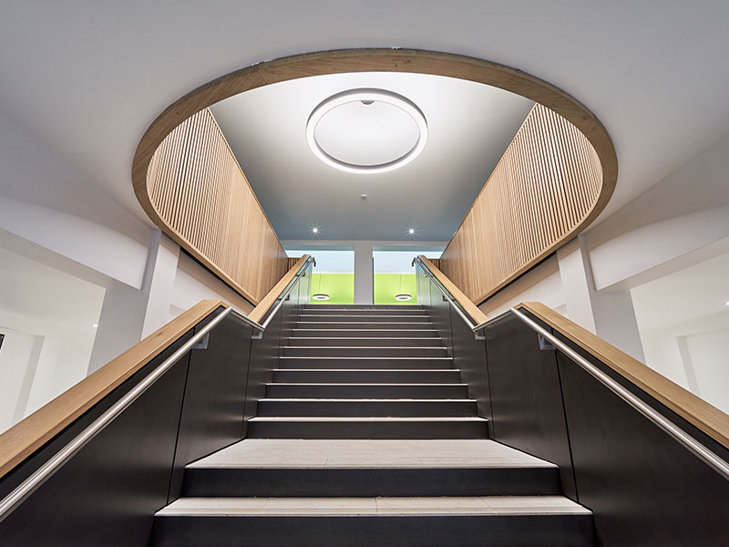 school interior with a new and modern identity