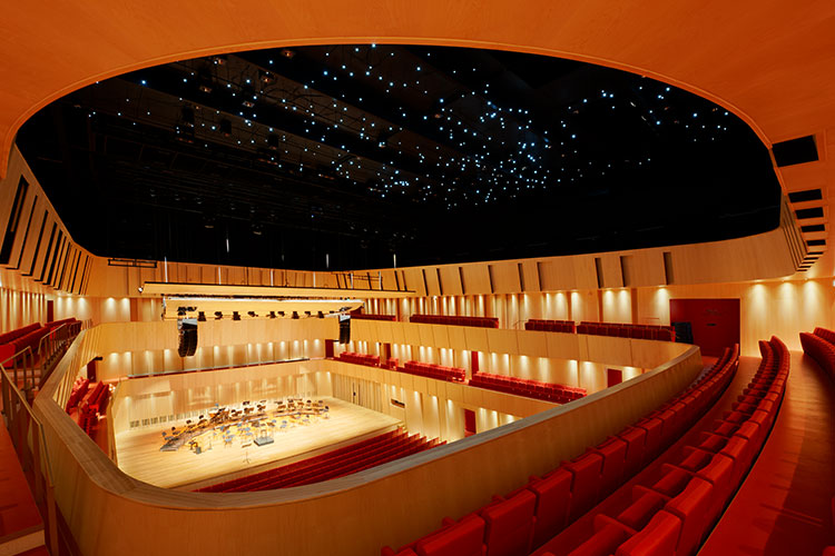 Spira Cultural Centre main concerthall in maple